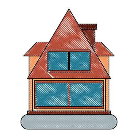 icône de la maison moderne sur fond blanc, illustration vectorielle