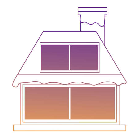 cabin house icon over white background, vector illustration Иллюстрация
