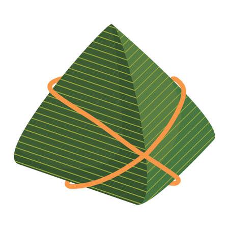 rice dumpling icon over white background, vector illustration