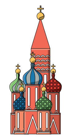 saint basil cathedral icon over white background, vector illustration
