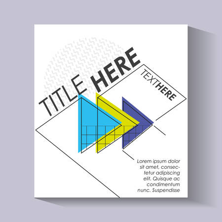 template infographic with figures geometrics vector illustration design