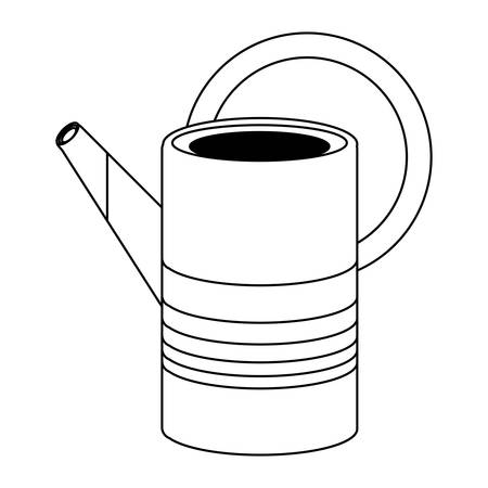 watering can icon over white background, vector illustration Çizim