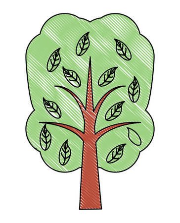 tree icon over white background, vector illustration
