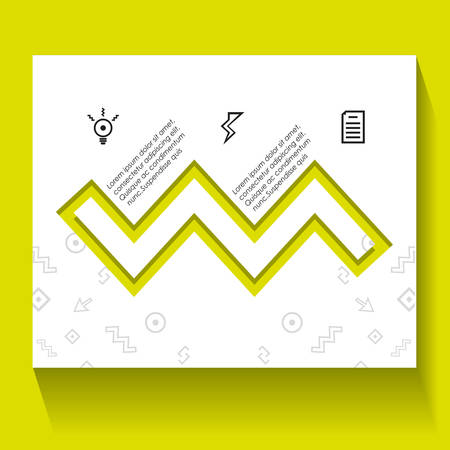 template infographic with figures geometrics vector illustration design