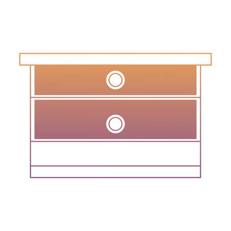 drawer over white background, vector illustration Illustration