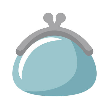 money purse icon over white background, vector illustration Ilustración de vector