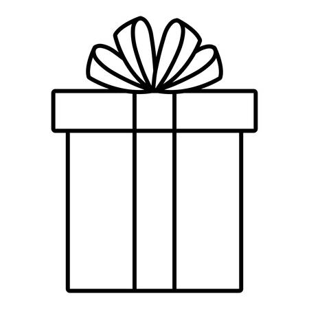 Gift box icon over white background, vector illustration