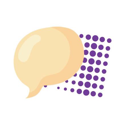 speech bubble icon over white background, vector illustration