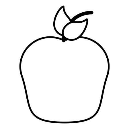 apple fruit icon over white background, vector illustration