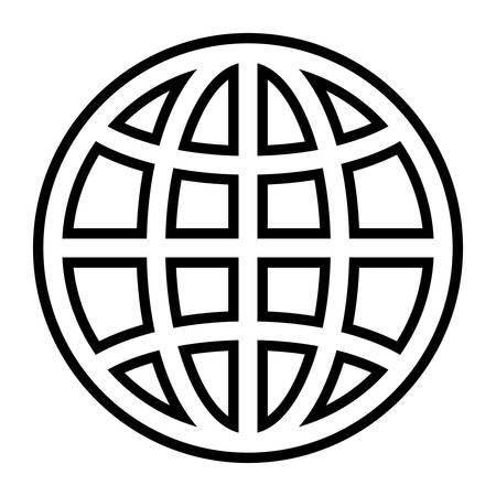 global sphere icon over white background, vector illustration