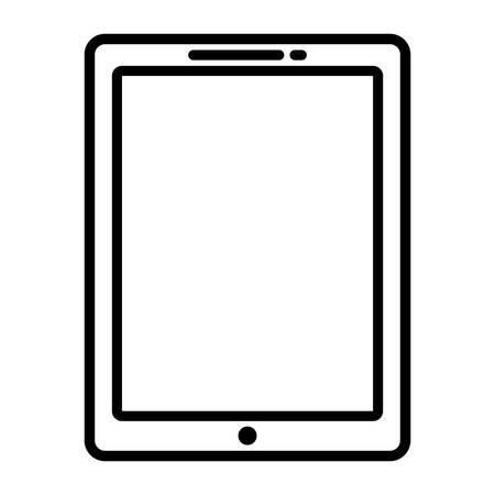 tablet device icon over white background, vector illustration Illustration