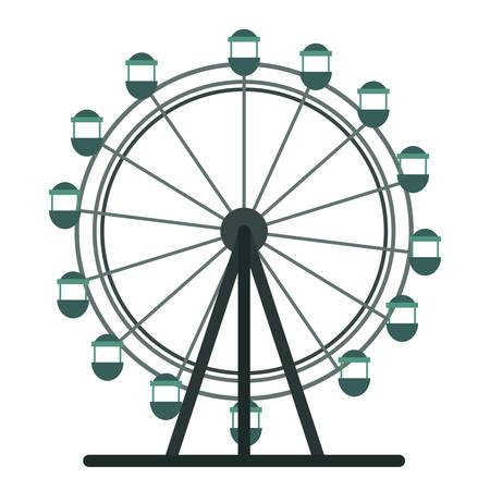 ferris wheel icon over white background, vector illustration 矢量图片