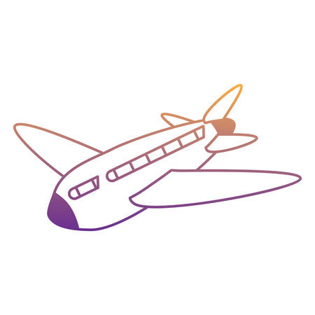 airplane icon over white background, vector illustration 免版税图像 - 112371674
