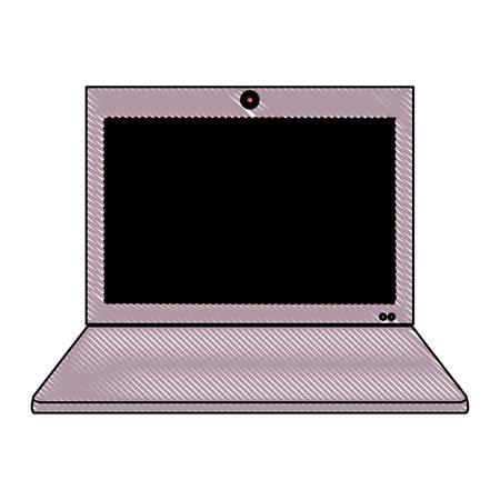laptop computer icon over white background, vector illustration Illustration