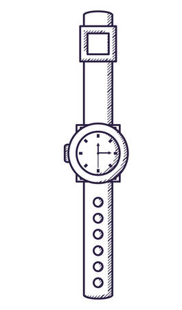 watch icon over white background, vector illustration