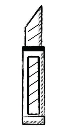 bistoury icon over white background, vector illustration