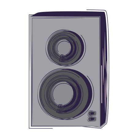 sound speaker icon over white background, vector illustration Illustration