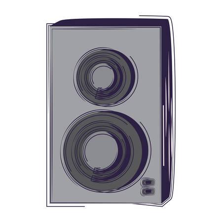 sound speaker icon over white background, vector illustration Illustration