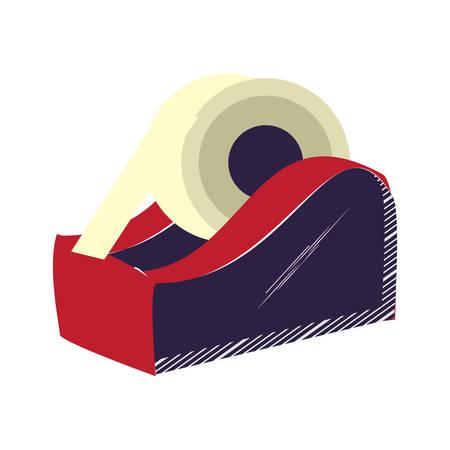 tape dispenser icon over white background, vector illustration