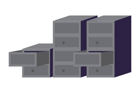 file cabinets over white background, vector illustration