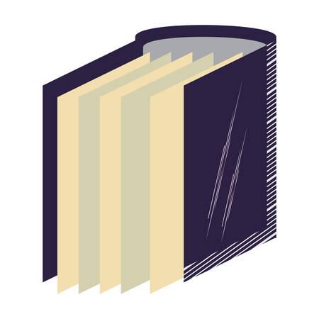document folder icon over white background, vector illustration