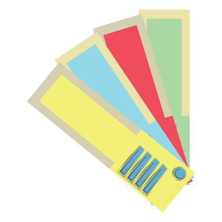 color picker icon over white background, vector illustration