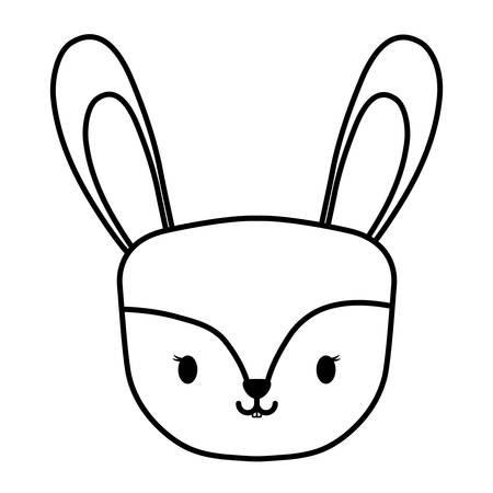 cute rabbit icon over white background, vector illustration 矢量图像