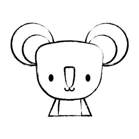 cute koala icon over white background, vector illustration