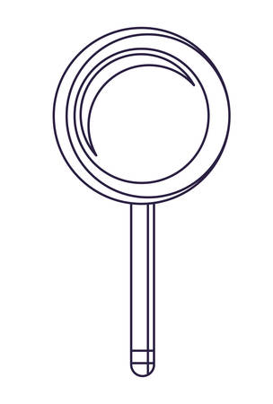 magnifying glass icon over white background, vector illustration
