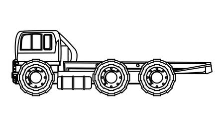 flat bed truck icon over white background, vector illustration Illusztráció