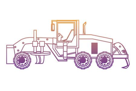 grader truck icon over white background, vector illustration