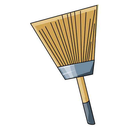 paint brush icon over white background, vector illustration