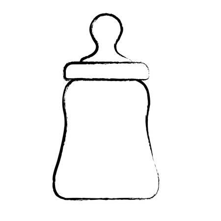 baby bottle icon over white background, vector illustration