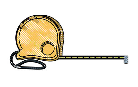 measuring tape over white background, vector illustration