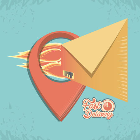 fast delivery service with envelopes vector illustration design Ilustração