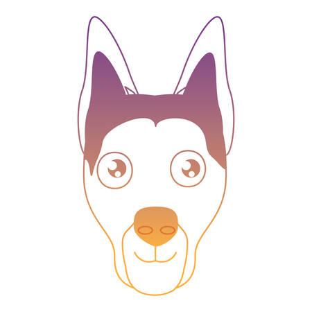cute doberman dog icon over white background, vector illustration