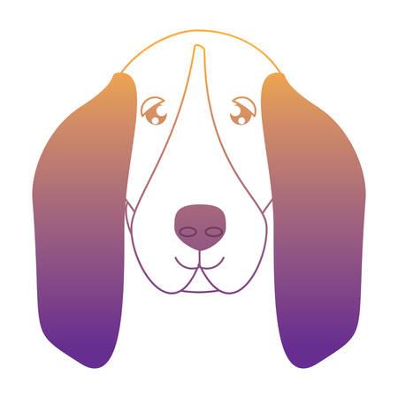 cute basset hound dog icon over white background, vector illustration Vector Illustration