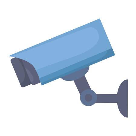 surveillance camera icon over white background, vector illustration