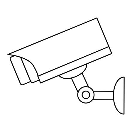 surveillance camera icon over white background, vector illustration