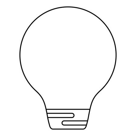 light bulb over white background, vector illustration
