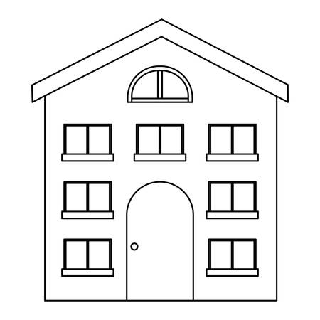 modern house over white background, vector illustration