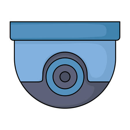 security camera icon over white background, vector illustration