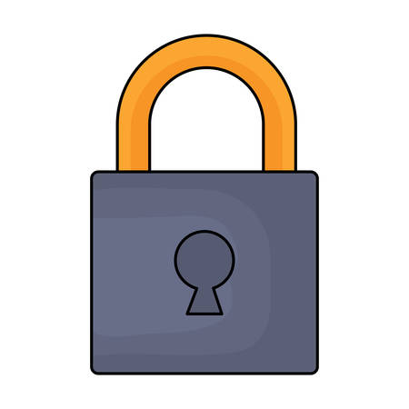 security padlock icon over white background, vector illustration Illustration