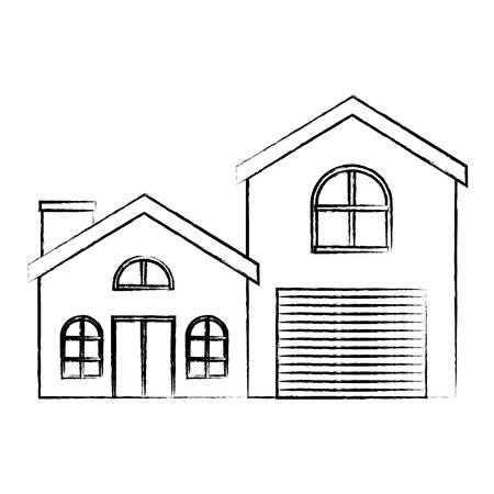 modern house over white background, vector illustration