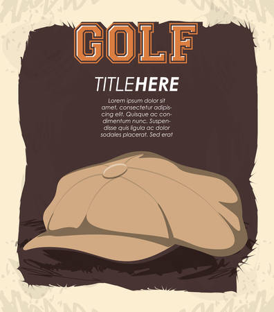 golf club label with hat vector illustration design