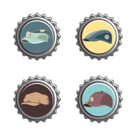 golf club seals set icons vector illustration design