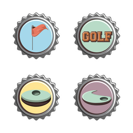golf club seals set icons vector illustration design