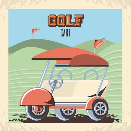 voiturette de golf dans la conception d'illustration vectorielle club Vecteurs