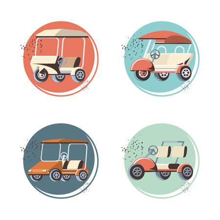 golf cart in the club vector illustration design