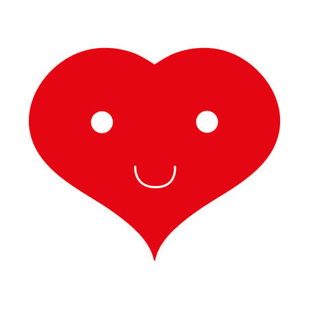 Heart cartoon love graphic design, vector illustration eps10